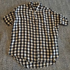 Madewell gingham black and white courier shirt XS